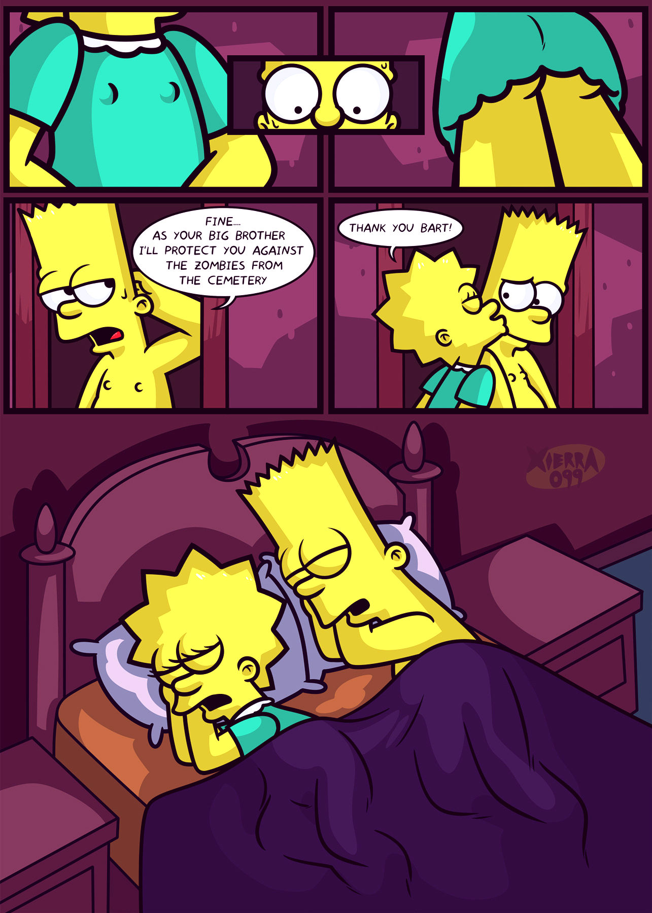 The not so treehouse of horror porn comic picture 6