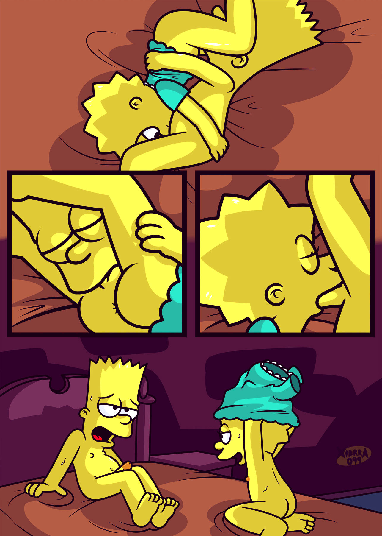 The not so treehouse of horror porn comic picture 8