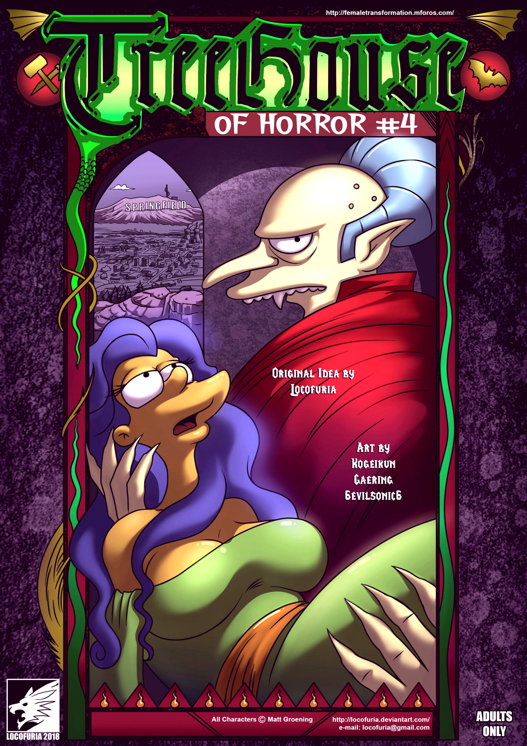 Treehouse of horror 4 porn comic picture 1
