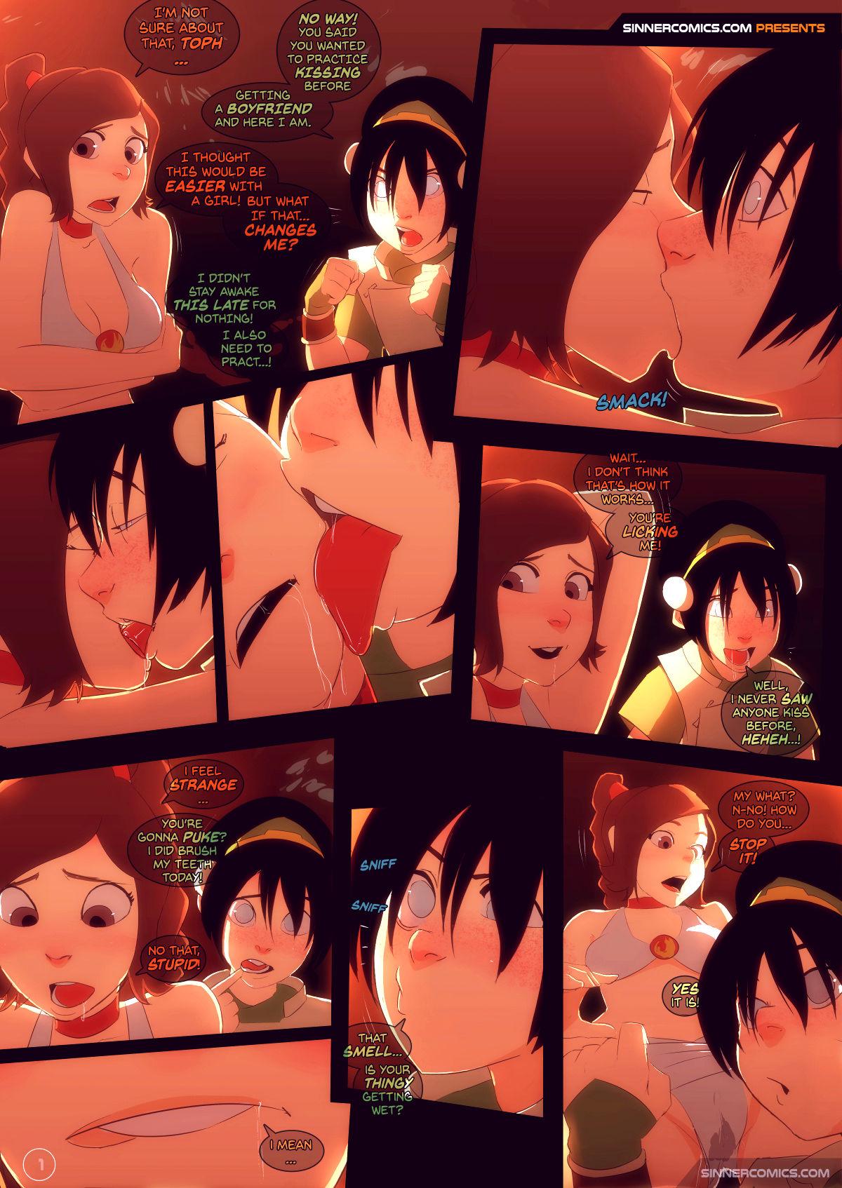 Kissing practice porn comic picture 1